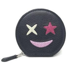 Coach F22959 Glitter Star Round Coin Case Navy